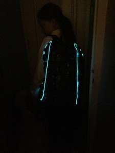 Backpack with electroluminescent wire