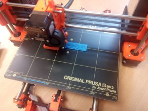 Printing out the Prusa logo.